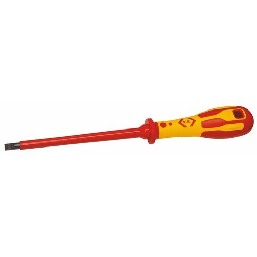 C.K Tools Dextro Slotted Parallel Flat Head VDE Insulated Screwdriver  - Click to view a larger image