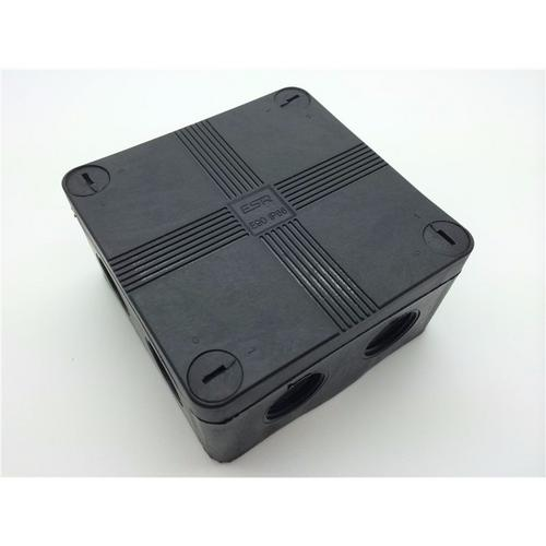 ESR Black IP66 Weatherproof External Outdoor Junction Adaptable Box With 5 Way Connector  - Click to view a larger image