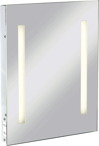 KnightsBridge Illuminated Bathroom Wall Mirror IP44 Rated with Shaver Socket  - Click to view a larger image
