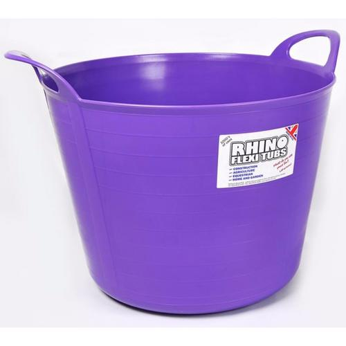 Compare prices for Rhino 40 Litre Heavy Duty Flexi Flexible Garden Container Storage Bucket Tub - Purple