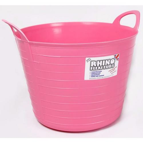 Compare prices for Rhino 40 Litre Heavy Duty Flexi Flexible Garden Container Storage Bucket Tub - Pink