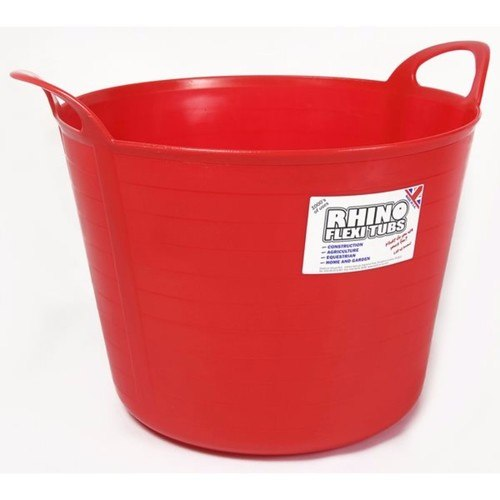 Compare prices for Rhino 40 Litre Heavy Duty Flexi Flexible Garden Container Storage Bucket Tub - Red