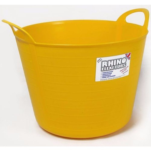 Compare prices for Rhino 40 Litre Heavy Duty Flexi Flexible Garden Container Storage Bucket Tub - Yellow