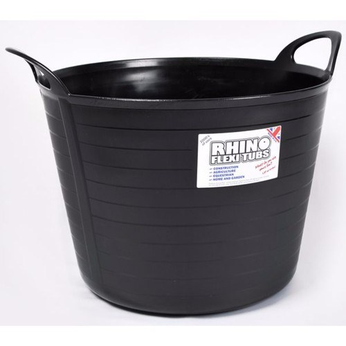 Compare prices for Rhino 40 Litre Heavy Duty Flexi Flexible Garden Container Storage Bucket Tub - Black
