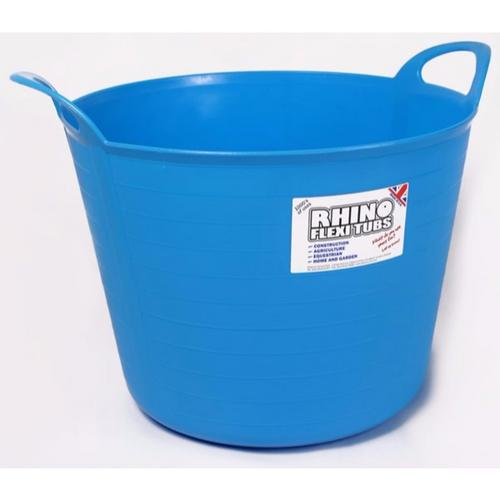 Compare prices for Rhino 40 Litre Heavy Duty Flexi Flexible Garden Container Storage Bucket Tub - Sky Blue