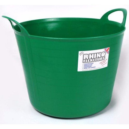 Compare prices for Rhino 40 Litre Heavy Duty Flexi Flexible Garden Container Storage Bucket Tub - Light Green
