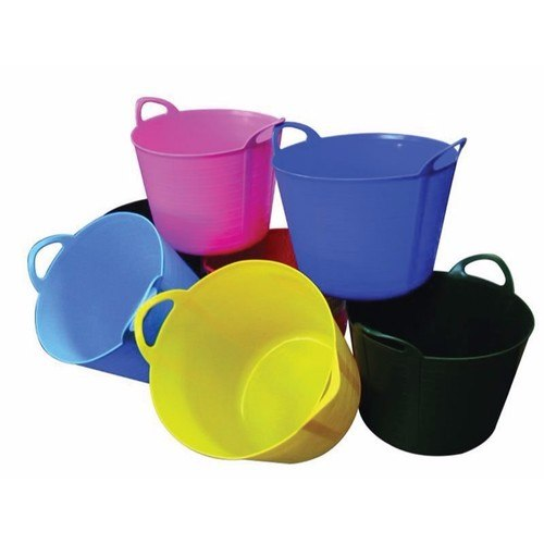 Rhino 40 Litre Heavy Duty Flexi Flexible Garden Container Storage Bucket Tub  - Click to view a larger image