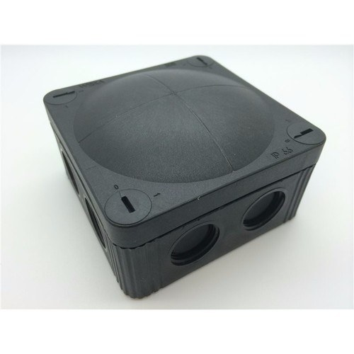 Wiska Combi 308/5 32A Black IP66 Weatherproof Junction Adaptable Box Enclosure With 5 Way Connector  - Click to view a larger image