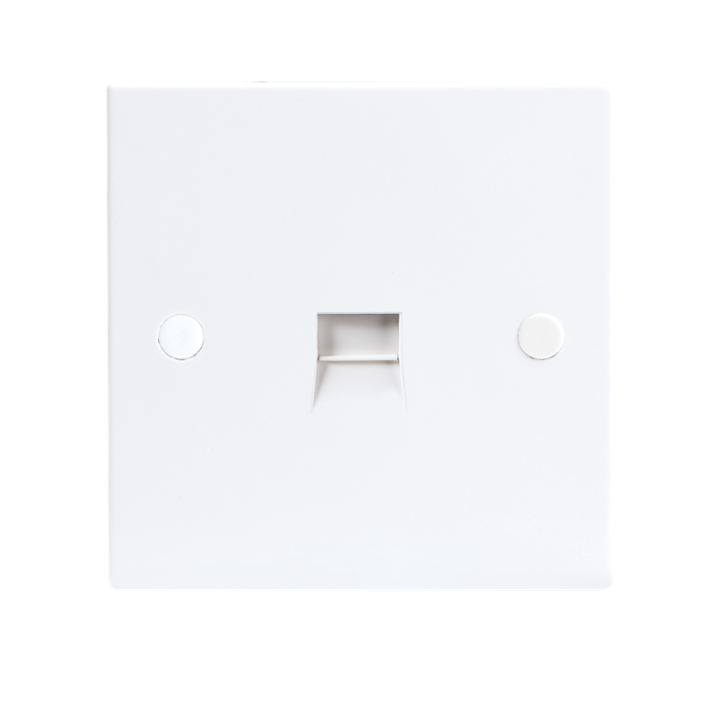 KnightsBridge 1G White Telephone Extension Socket Flush Wall Switch 1