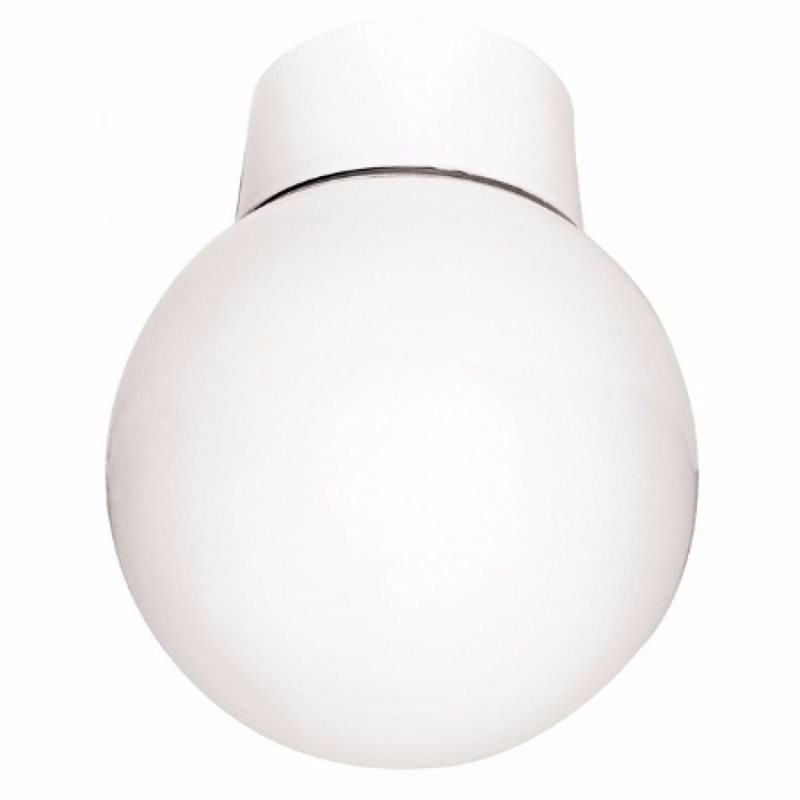 Eterna 60W Opal Glass Bathroom Globe Ceiling Light 1