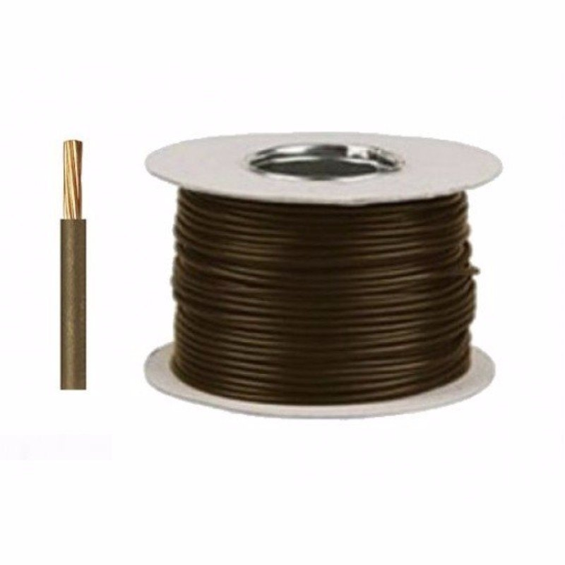 Zexum Brown 6mm 7 Strand 46A Single Core 6491B LSZH (Low Smoke Zero Halogen) Round Power Insulated Conduit Wire 1