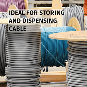 Cable Reel Drum Holder Ideal for Storing and Dispensing Cable